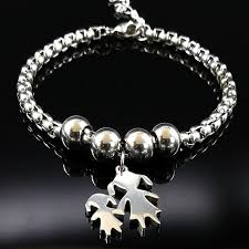 <b>2019</b> Mother and Daughter Stainless Steel Bracelet for Women ...