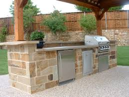 Countertop For Outdoor Kitchen Flagstone Outdoor Kitchen With Poured In Place Polished Concrete