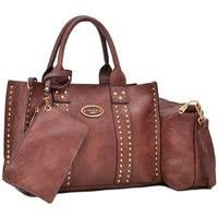 Buy <b>Faux Leather Tote Bags</b> Online at Overstock | Our Best Shop By ...
