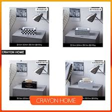 C•H <b>Nordic</b> INS Wooden <b>Tissue</b> Box Living Room Tray Home Car ...