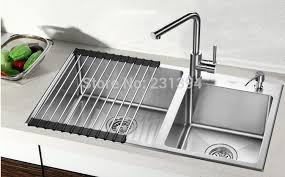 undermount kitchen sink stainless steel: mm stainless steel undermount kitchen sinks sets double bowl drawing double drainer