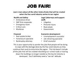 job fair the frac sand frisbee this