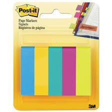 Клейкие закладки <b>бумажные</b> 5 цветов бренда <b>3M</b> Post-It – купить ...