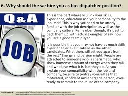 top bus dispatcher interview questions and answers  8