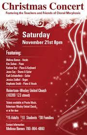 editorial poster cover design bulmer creative designs choral morphosis christmas concert poster