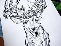 Олень: лучшие изображения (7)   Тату олень, Олень и Татуировки