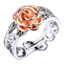 <b>Fashion Flower</b> Ring Romantic <b>Flower Hollow</b> Ring for Women ...