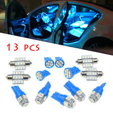 Blph <b>13x Blue</b> Car LED <b>Lights</b> Interior Package Kit for Dome License ...