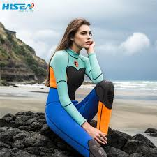 diving suit female warm surf clothing long sleeved one piece sunscreen ethnic style jellyfish resistant snorkeling