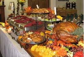 Image result for pic of big table with lots of food on it at christmas