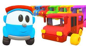 <b>Разноцветные</b> автобусы и животные - Песенки с Левой ...