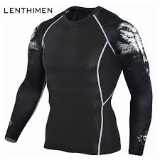 New <b>Wolf</b> 3D T Shirt Men Crossfit Compression Shirt Long Sleeve ...