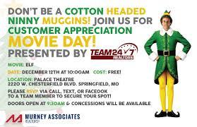 customer appreciation movie day featuring elf springfield homes customer appreciation movie day featuring elf
