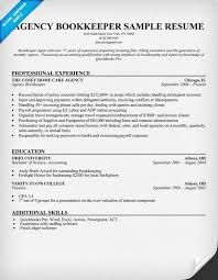 agency bookkeeper resume bookkeeper achievement resume samples nimofreedns4us bookkeeper resume examples
