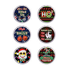 (6 Pack) LED Ugly <b>Sweater</b> Buttons for Christmas Holiday Party Favors