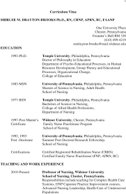 curriculum vitae shirlee m drayton brooks ph d rn crnp aprn edu temple university philadelphia pennsylvania doctor of philosophy in education department of psycho