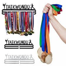 stainless steel <b>wall</b> mount display <b>taekwondo</b> medal hanger holder ...