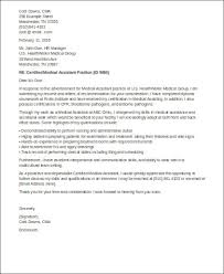 cover letter for certified medical assistant sample cover letters for medical assistant