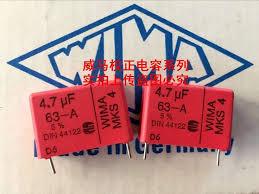 2019 hot sale 10pcs/<b>20pcs</b> German capacitor <b>WIMA MKS4</b> 63V 4.7 ...