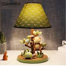 Cartoon <b>Resin</b> Monkey Table Lamps <b>Modern Led</b> Stand Desk Light ...