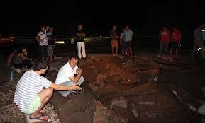 Bodrum'da DSİ'ye ait içme suyu hattı patladı