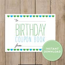 boyfriend coupon printable birthday coupon book editable pdf diy birthday gift husband wife boyfriend girlfriend mom dad daughter son birthday card