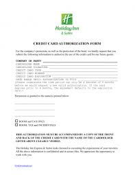 holiday inn credit card authorization form template pdf holiday inn credit card authorization form template