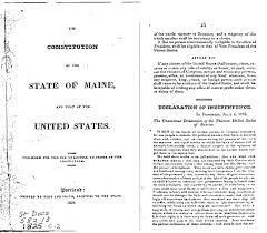 the real thirteenth constitutional amendment maine constitution and that of the united