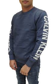 NWT Calvin Klein Men's Long Sleeve Printed Round Neck ...