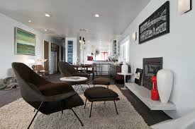 room ergonomic furniture chairs: ergonomic chair living room midcentury with shag rug womb chair recessed lighting