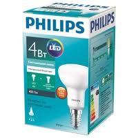 Лампа светодиодная Philips Essential LED 4000К, E14, R50, 4Вт ...
