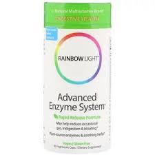 Rainbow Light, <b>Advanced Enzyme System</b>, <b>Rapid</b> Release Formula ...