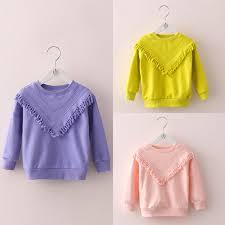 <b>2019</b> Retail 2017 New <b>Autumn</b> Winter Baby Girl Top <b>Solid</b> ...