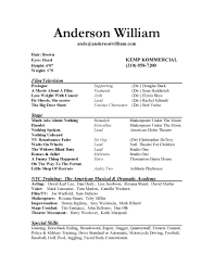 resume example 29 actor sample resume template how to make an resume example acting resume sample for beginners sample actress resume actor resume sample no experience
