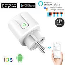 Alexa 10A <b>16A EU RGB Wifi</b> Smart Plug Power Socket Wifi Wireless ...