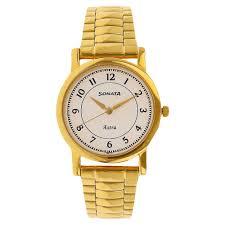 Buy Sonata Analog White Round Dial <b>Stainless Steel Strap</b> Watch ...
