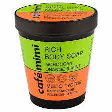 <b>CAFE MIMI Мыло густое</b> для бани 220мл Апельсин и мята ...