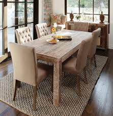 Contemporary Round Dining Table For 6 Contemporary Brown Varnishes Wooden Dining Table Equipped Four