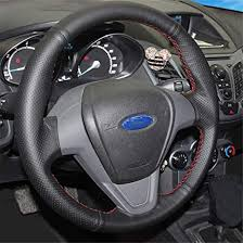 FANGPAN Artificial Leather <b>car</b> steering wheel <b>braid</b>,For Ford Fiesta ...