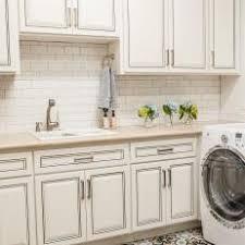 backsplash bone white cabinets lovely white laundry room with subway tile backsplash