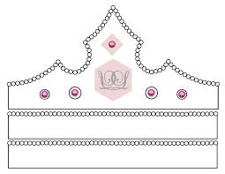 princess tiara template prince and princess crown printable templates amp coloring
