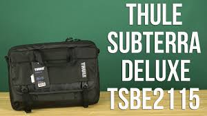 "Распаковка <b>Thule Subterra</b> Deluxe 15"" Black TSBE2115 - YouTube"