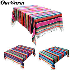 <b>OurWarm 150X215cm Cotton</b> Rectangle Tablecloth for Mexican ...