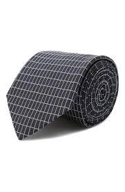 Мужской темно-синий <b>шелковый галстук HUGO</b> — купить за 5600 ...