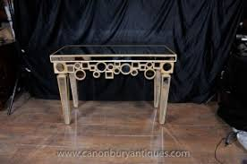 art deco mirrored console table hall tables borghese furniture art deco mirrored furniture