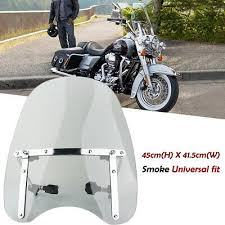 Universal <b>Smoke Motorcycle Windshield Windscreen</b> 7/8'' 1'' Bar For ...
