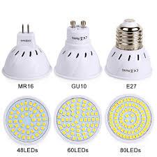 <b>E27 Led Bulb GU10</b> MR16 Spotlight SMD2835 AC 220V 230V LED ...