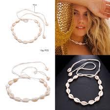 Miss JQ Bohemian <b>Natural Shell</b> Collar Choker Necklace for Women ...