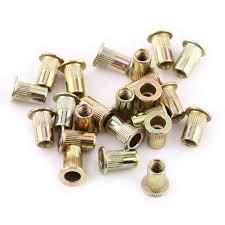 FTVOGUE <b>M3</b>-M12 Rivet <b>Nut Carbon Steel</b> Flat Threaded Rivet <b>Nut</b> ...