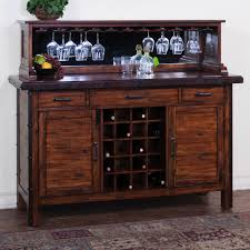 rustic hutch dining room: dining room hutch with wine rack